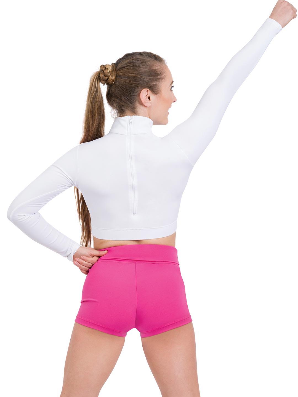 TB107C All Sizes Capezio Little Girls Turtleneck Long Sleeve Top