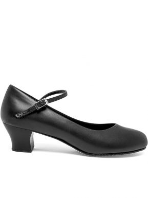 2/'/' Heel Capezio 650 Black Student Footlight Stage Shoes