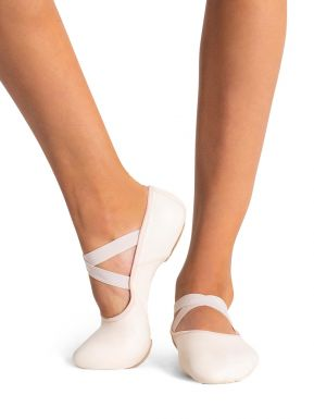 NEW Capezio Daisy Full Sole Leather Ballet Shoes Pink Black White Adult Sizes