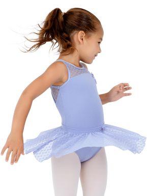 inlzdz Kids Girls Pinched Front Camisole Ballet Dance Skirted Leotard Ballerina Pageant Fancy Dress Costumes
