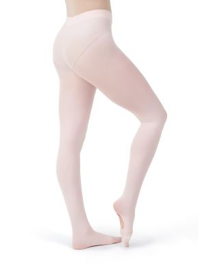 Capezio 5 Womens Size Extra Large Pink Footed Tights with Back Seam