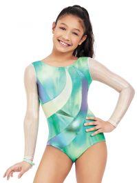 Coralup Girls Classic Long Sleeve Gymnastics Dance Leotard Back Bowknot Dress
