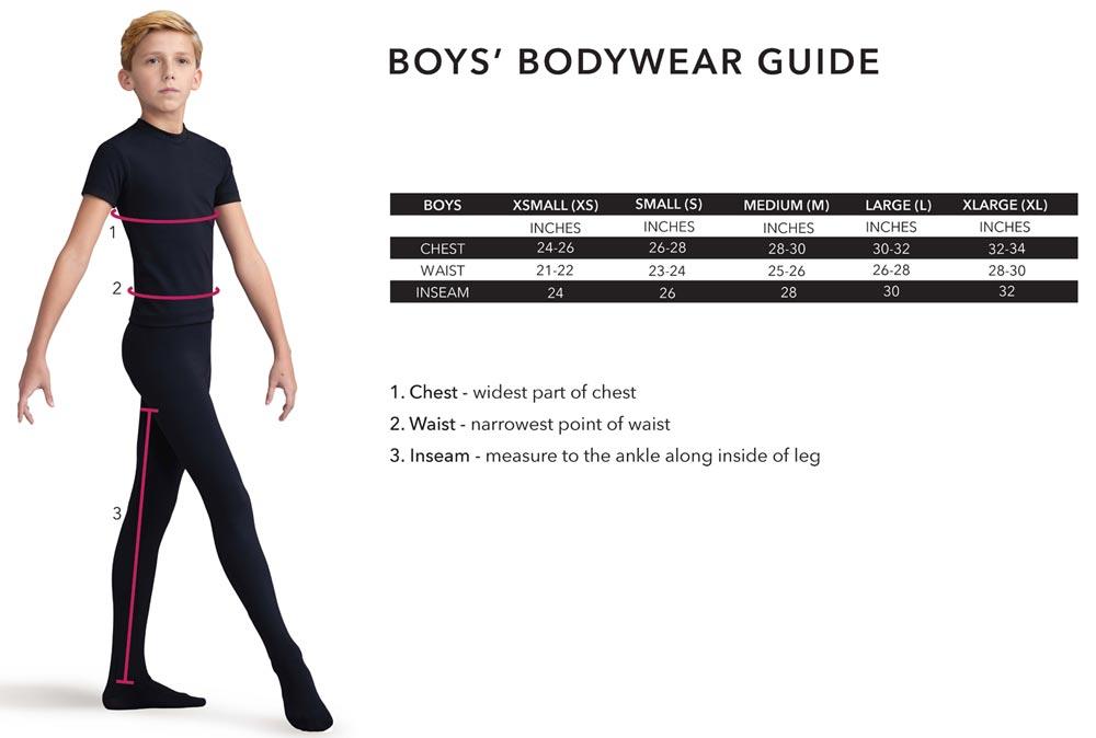 Boys Bodywear Guide