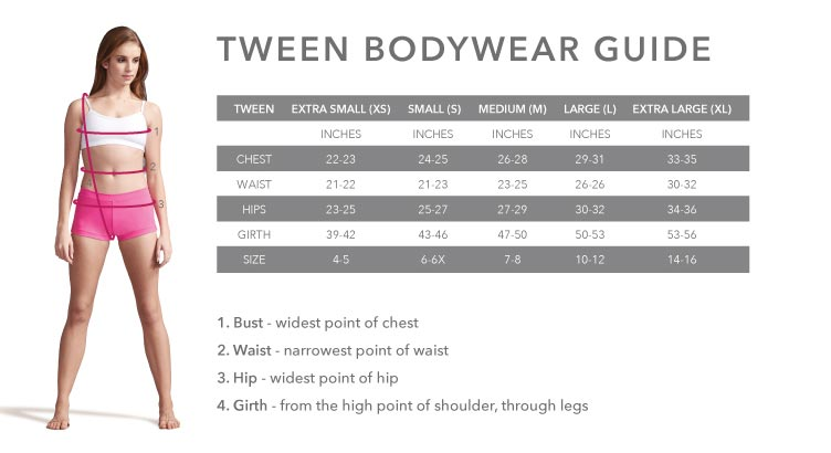 Tween Bodywear Guide